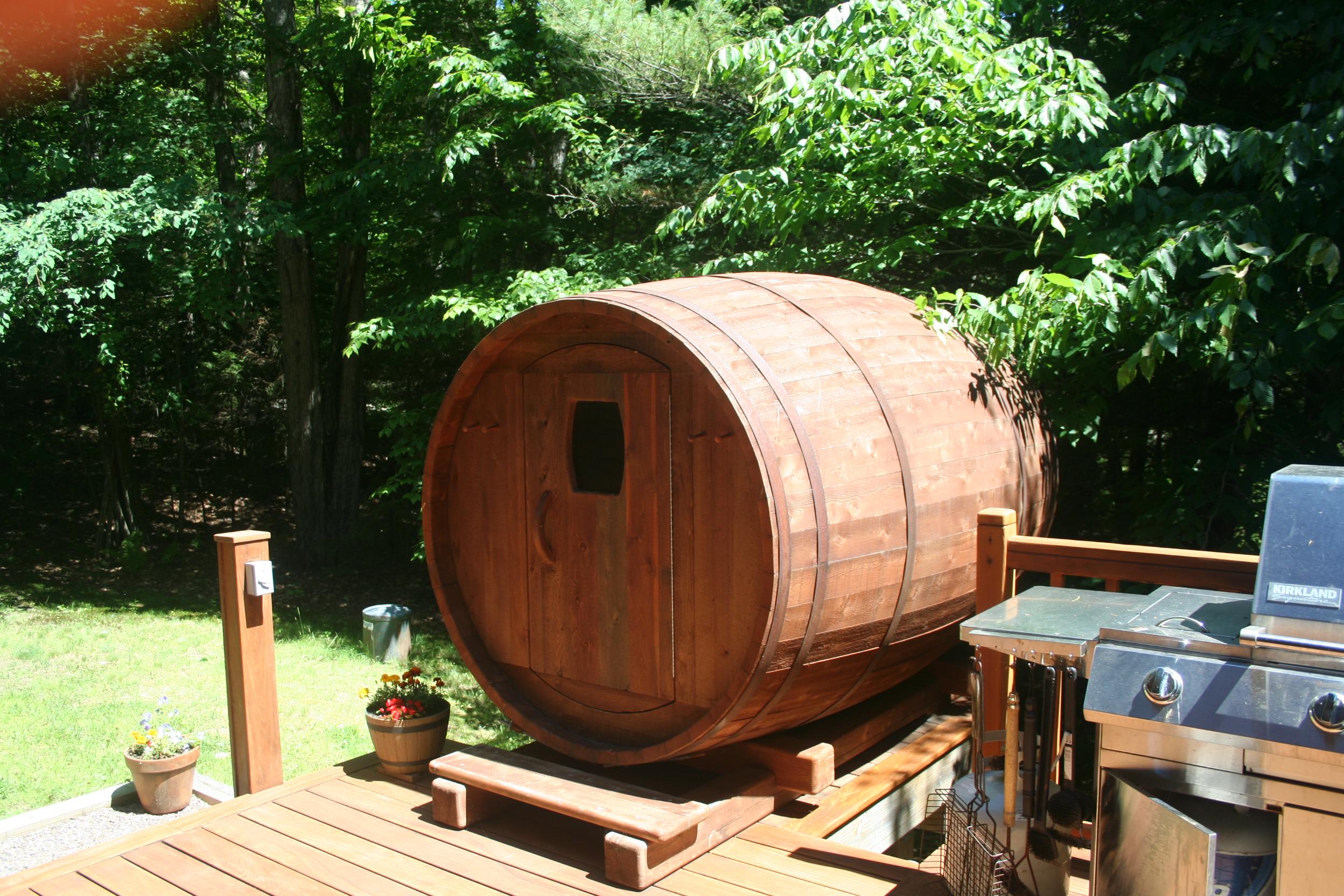 Bent Stave Cedar Sauna